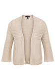 Crop Trumpet Sleeve Cardi (Beige or Black)