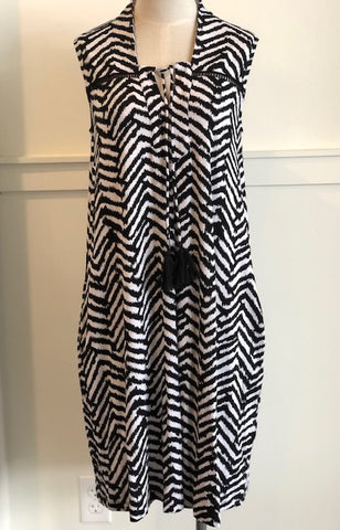 Chevron Tassel Dress