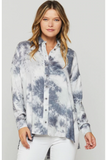 Blue-Grey Tie Dye Shirt