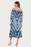 Blue Tie Dye Convertible Gauze Dress