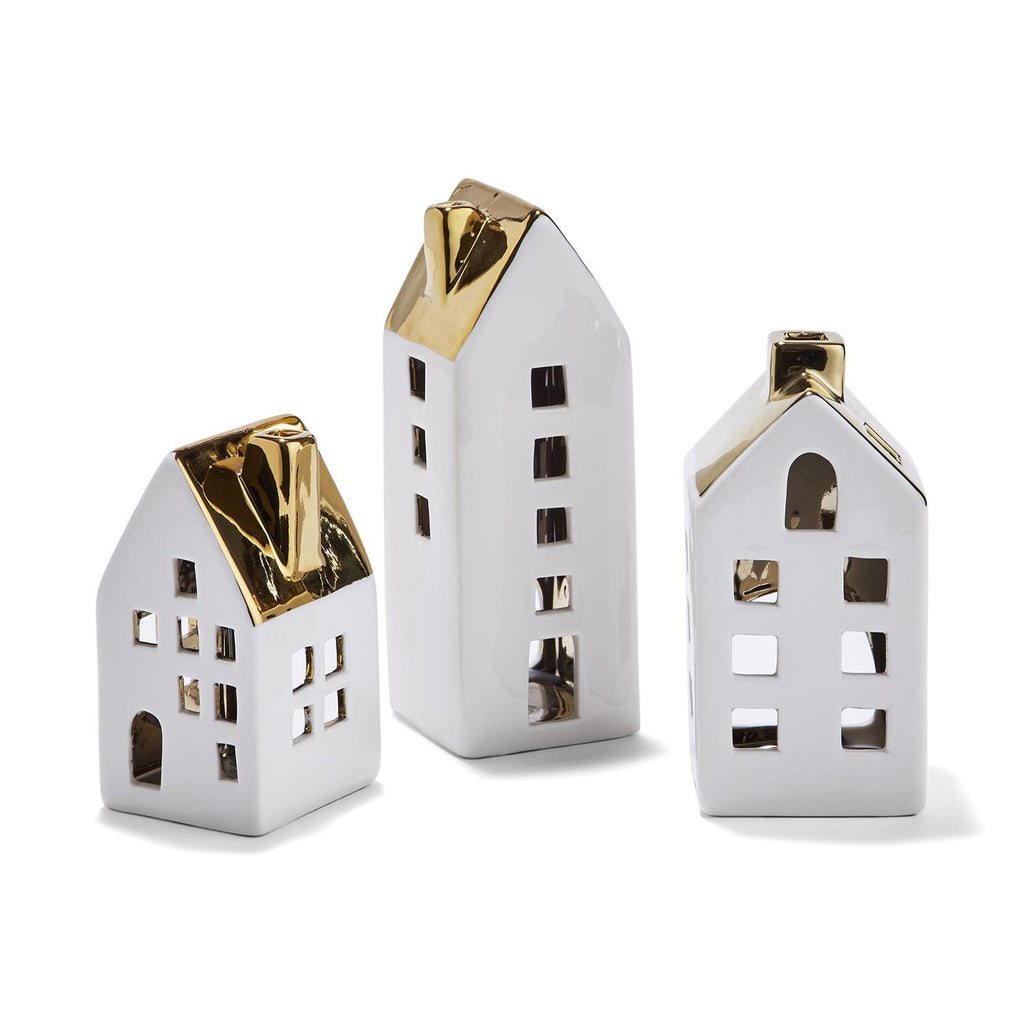 Set of 3 Cottage Votive Holders