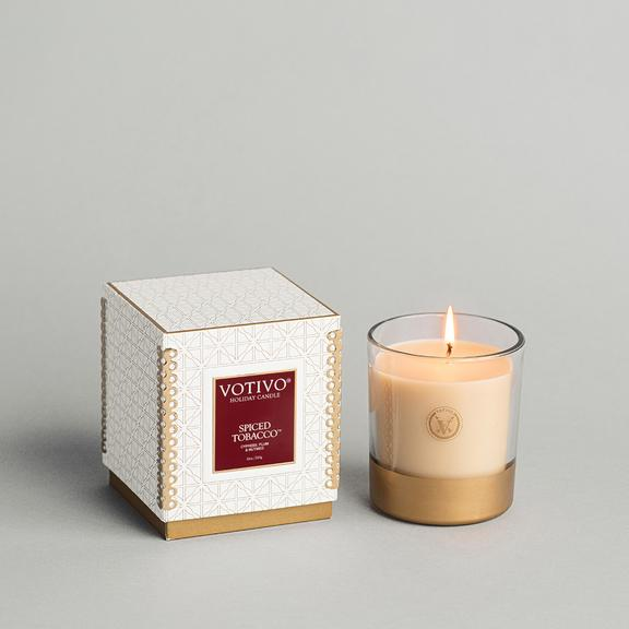 Votivo Holiday Collection 10 oz Candle -Spiced Tobacco