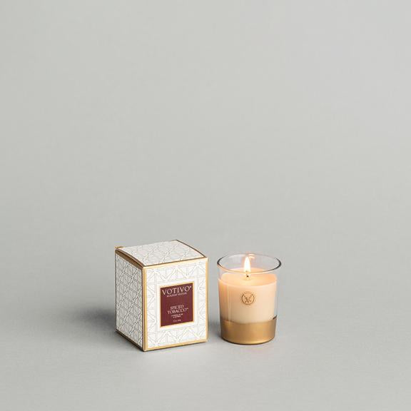 Votivo Holiday Collection Votive Candle -Spiced Tobacco
