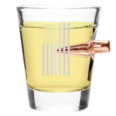 .308 Bullet Shot Glass – Draped Flag