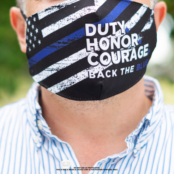 Face Mask - Duty Honor Courage (12 Masks)