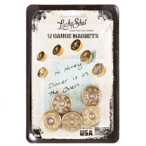 12 Gauge Real Bullet Magnets Package