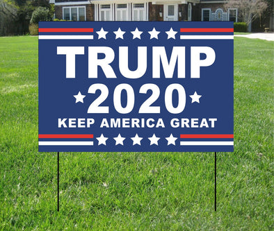 "TRUMP 2020 Yard Sign - 12"" X 18"""