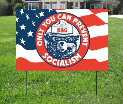 "Smokey Socialism Yard Sign - 12"" x 18"""