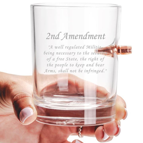 .308 Bullet Whiskey Glass - 2nd Amendment