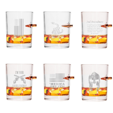 .308 Whiskey Glass Pack of 6 Styles - 36 Pieces Total