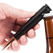 50 Caliber® Bullet Bottle Opener in Matte Black Opening