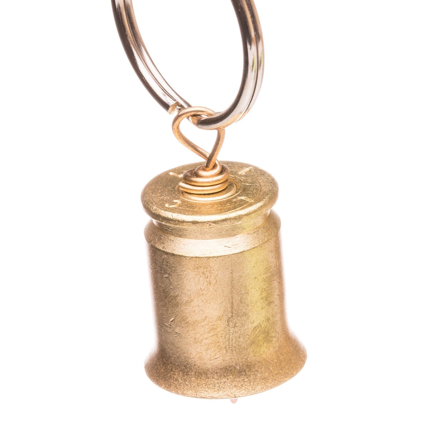 Lucky Shot 50 Cal BMG Real Bullet Motorcycle Bell Keychain with .223 Clapper