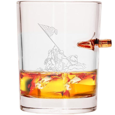 .308 Bullet Whiskey Glass - Honor Iwo Jima