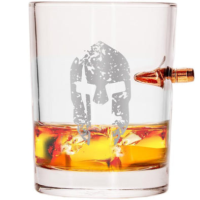 .308 Real Bullet Whiskey Glass - Molon Labe