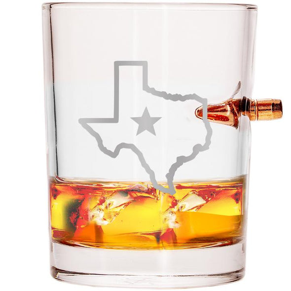 .308 Bullet Whiskey Glass - State of Texas