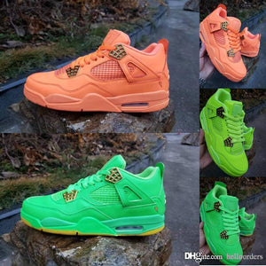 6b45dfc566ef39 2019 Luxury Designer Mens Shoes Basketball Sneakers Pink Green 4 Qinmin123  Men Sport Shoes luxury Hot For Sale