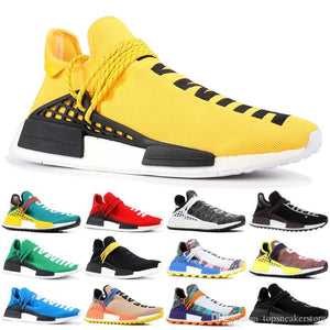 a306747a021a1 2019 NMD Human Race Mens Running Shoes With Box Pharrell Williams Sample  Yellow Core Black Sport Designer Shoes Women Sneakers 36-45