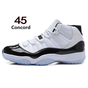 detailed look e6c8b 34ef0 11 Basketball Shoes Concord 45 Platinum Tint Cap and Gown Space Jam Win  Like 96 Designer Shoes Men Women Sports Sneakers Size 36-47