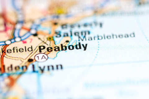 Peabody, Massachusetts on map