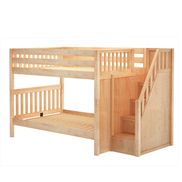 Full/Full Medium Bunk Bed w/Staircase