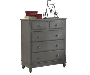 Hillsdale 5 Drawer chest in Grey
