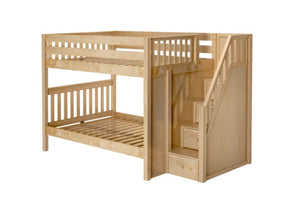 Full High Bunk Bed with Staircase