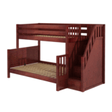 Twin/Full Medium Bunk Bed w/Staircase