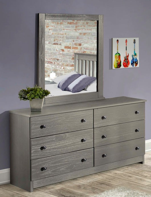 6 Drawer Double Dresser / Mirror