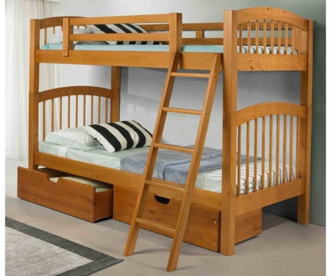 Twin/Twin Phoenix Bunk Bed in Pecan