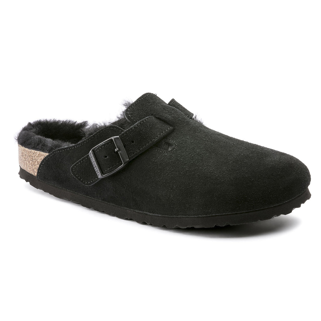 Boston Black Suede Shearling