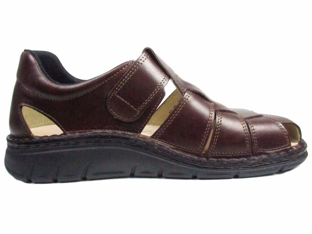 Copan Brown Leather Sandal
