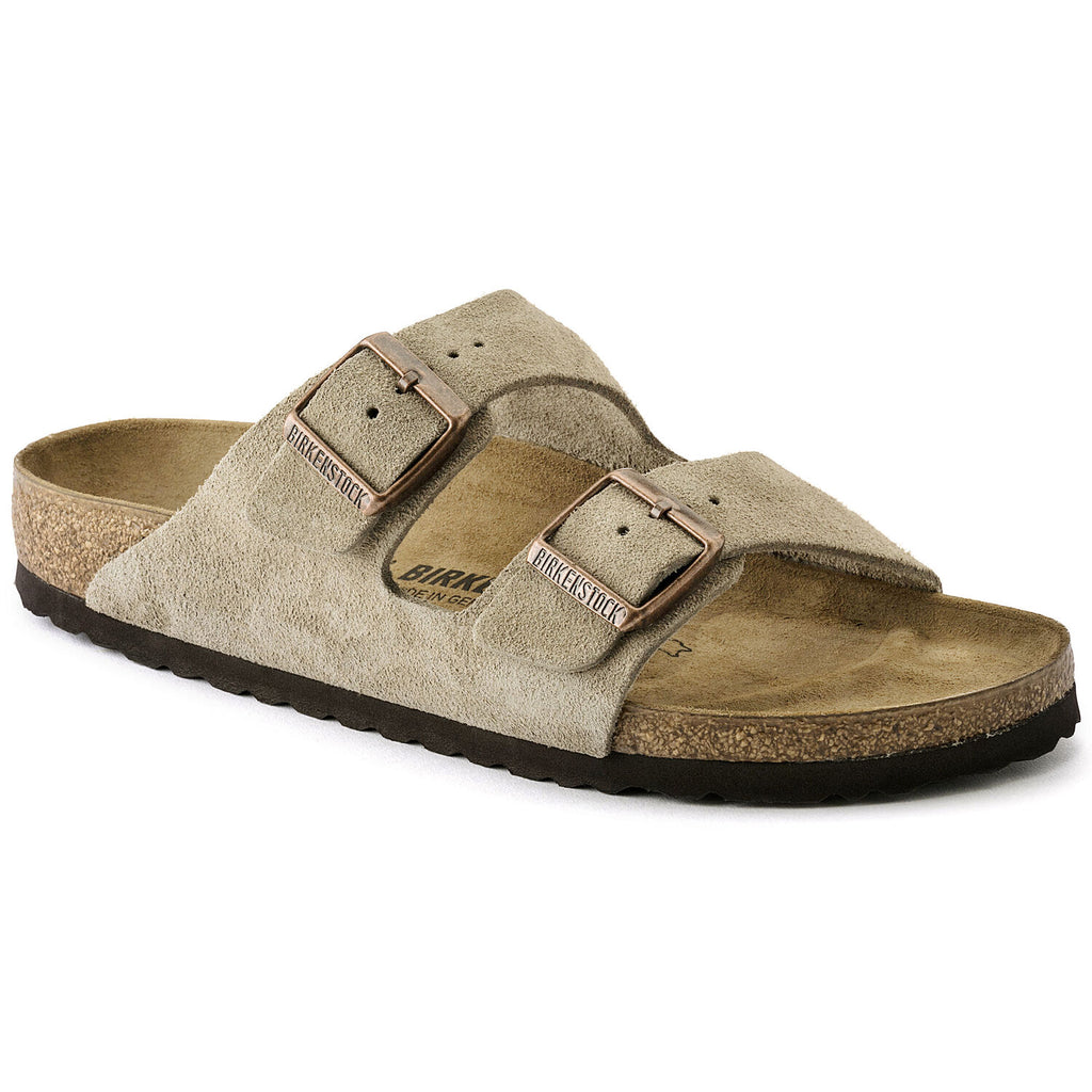 Arizona Taupe Suede Narrow
