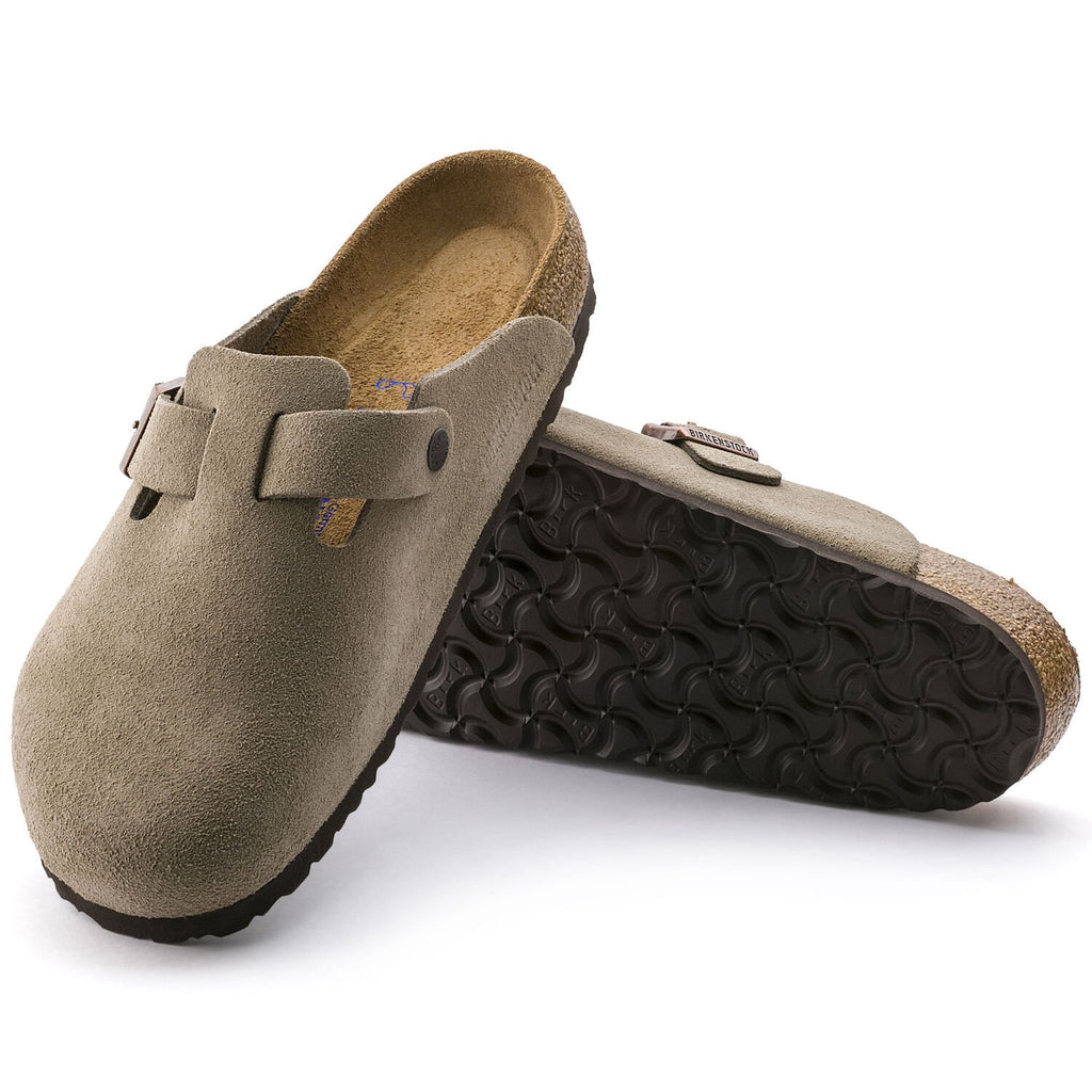 Boston Taupe Suede Soft Footbed - Narrow