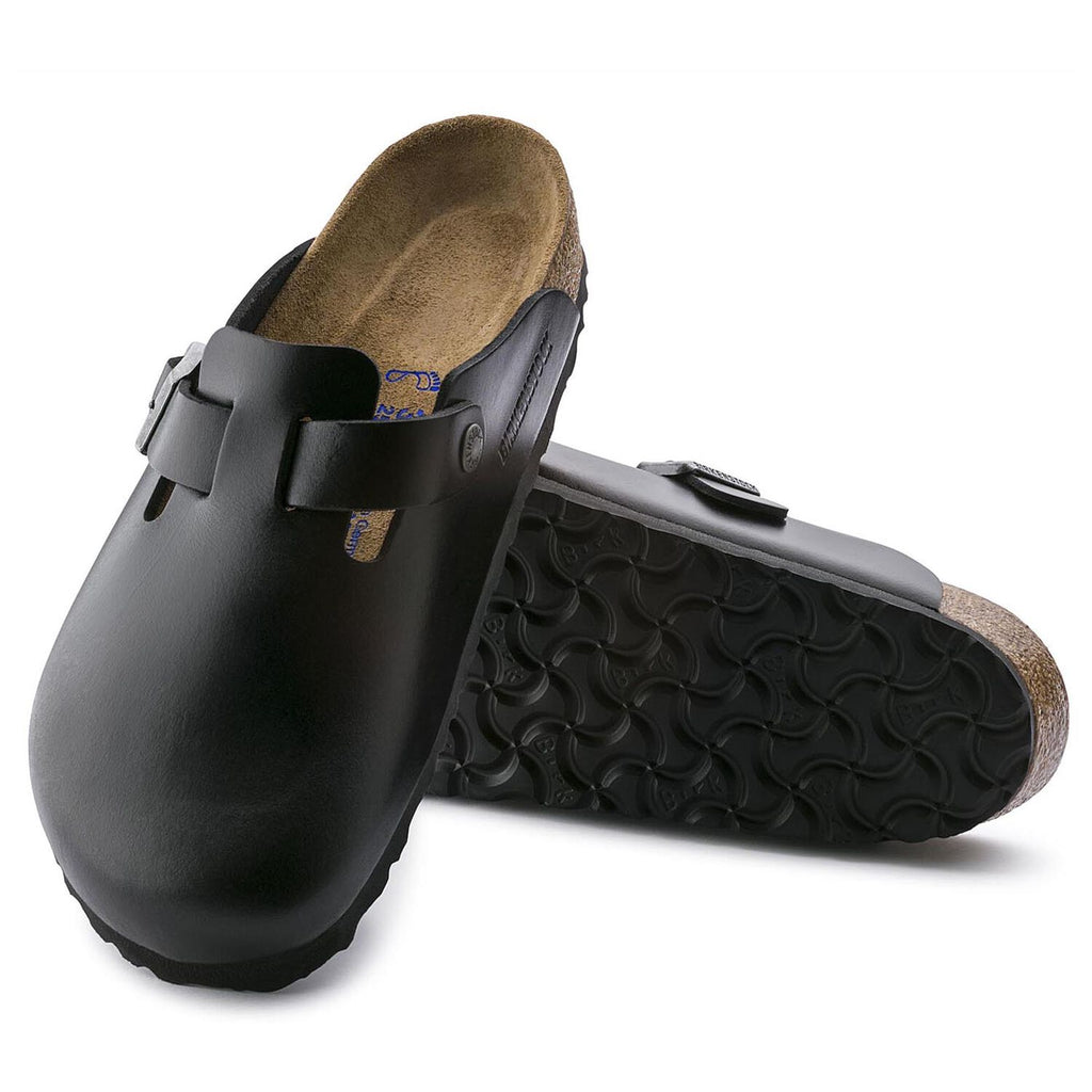 Boston Black Amalfi Leather Soft Footbed