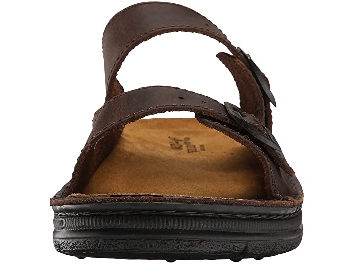 Mikael Brown Leather Sandal