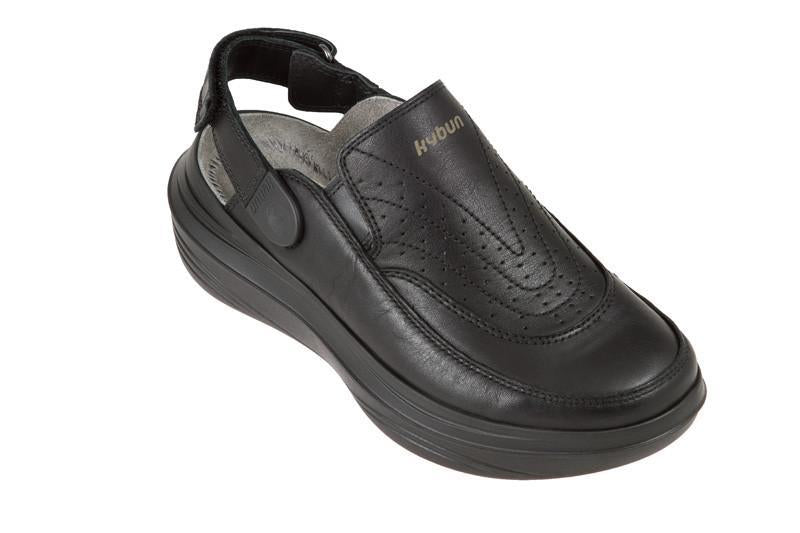 Gaya 12 Black Back Strap Clog