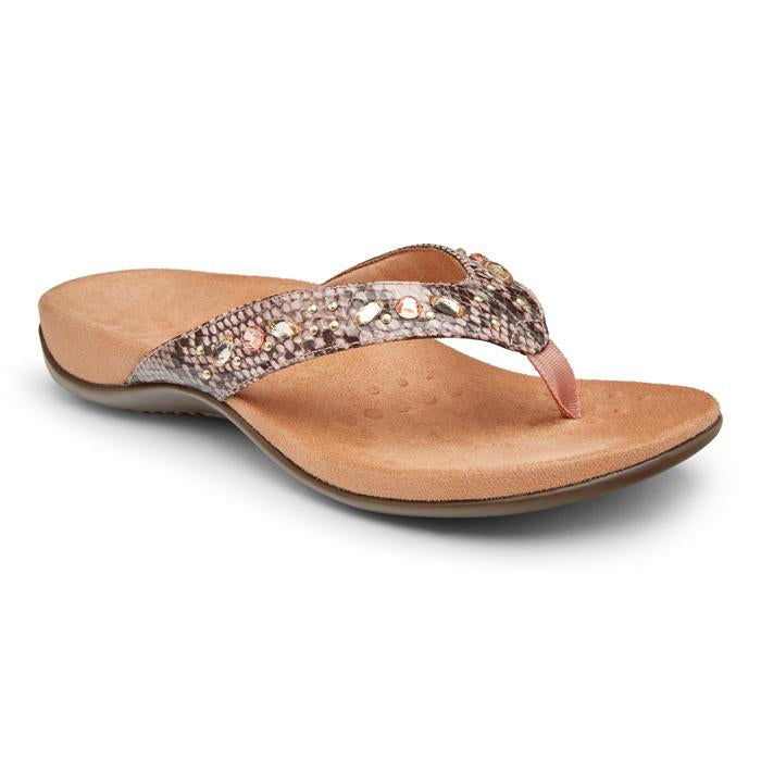Lucia Toe Post Snake Sandal