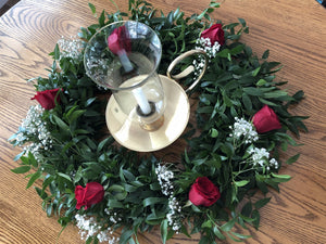 Italian Ruscus Table Ring Wreath