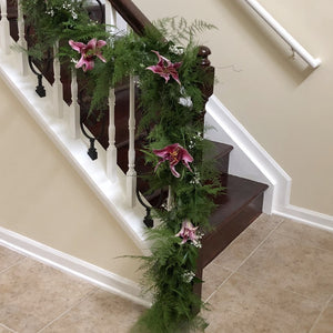 Specialty Garland of Springeri, Plumosus and Baby's Breath