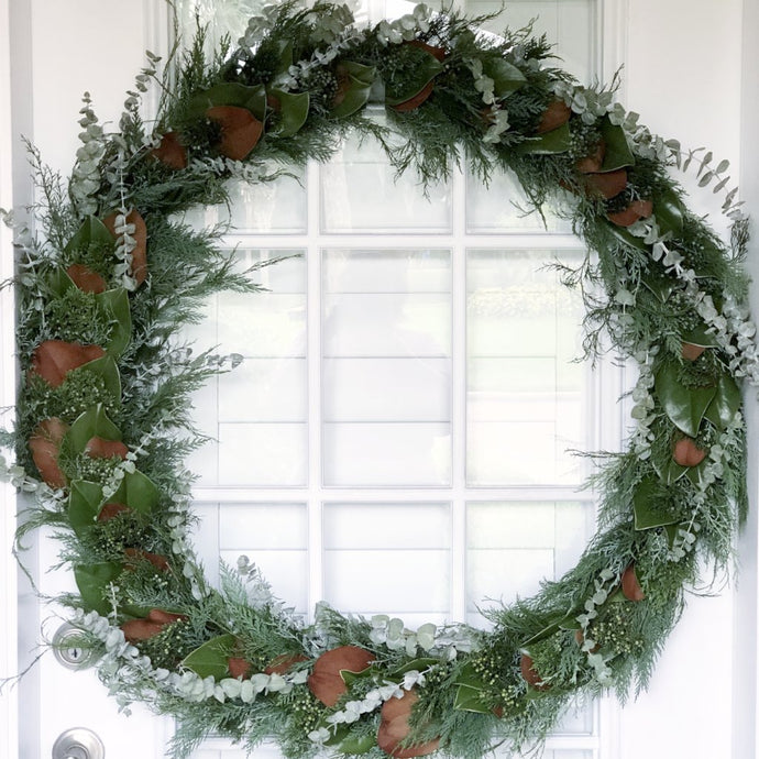 Fall and Christmas Wreath