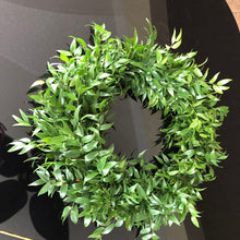 Load image into Gallery viewer, holiday wreath Italian ruscus