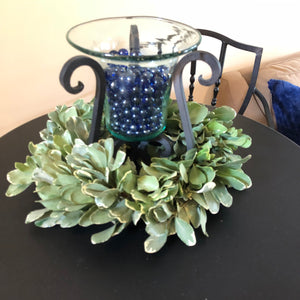 Variegated Pittosporum Table Ring or Wreath