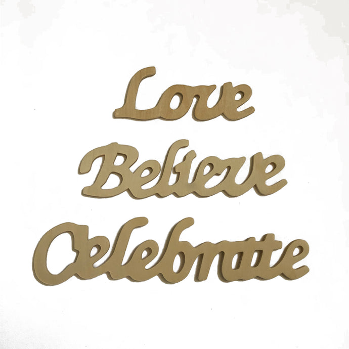 Add A Word! Love, Celebrate, or Believe