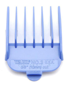 Wahl Coloured Plastic Clipper Comb #3 Blue