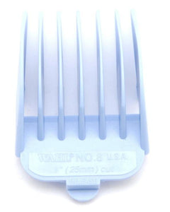 Wahl Coloured Plastic Clipper Comb #8 Aqua