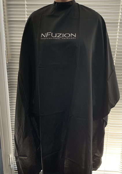 NFuzion Printed Hairdressing Cape - Black