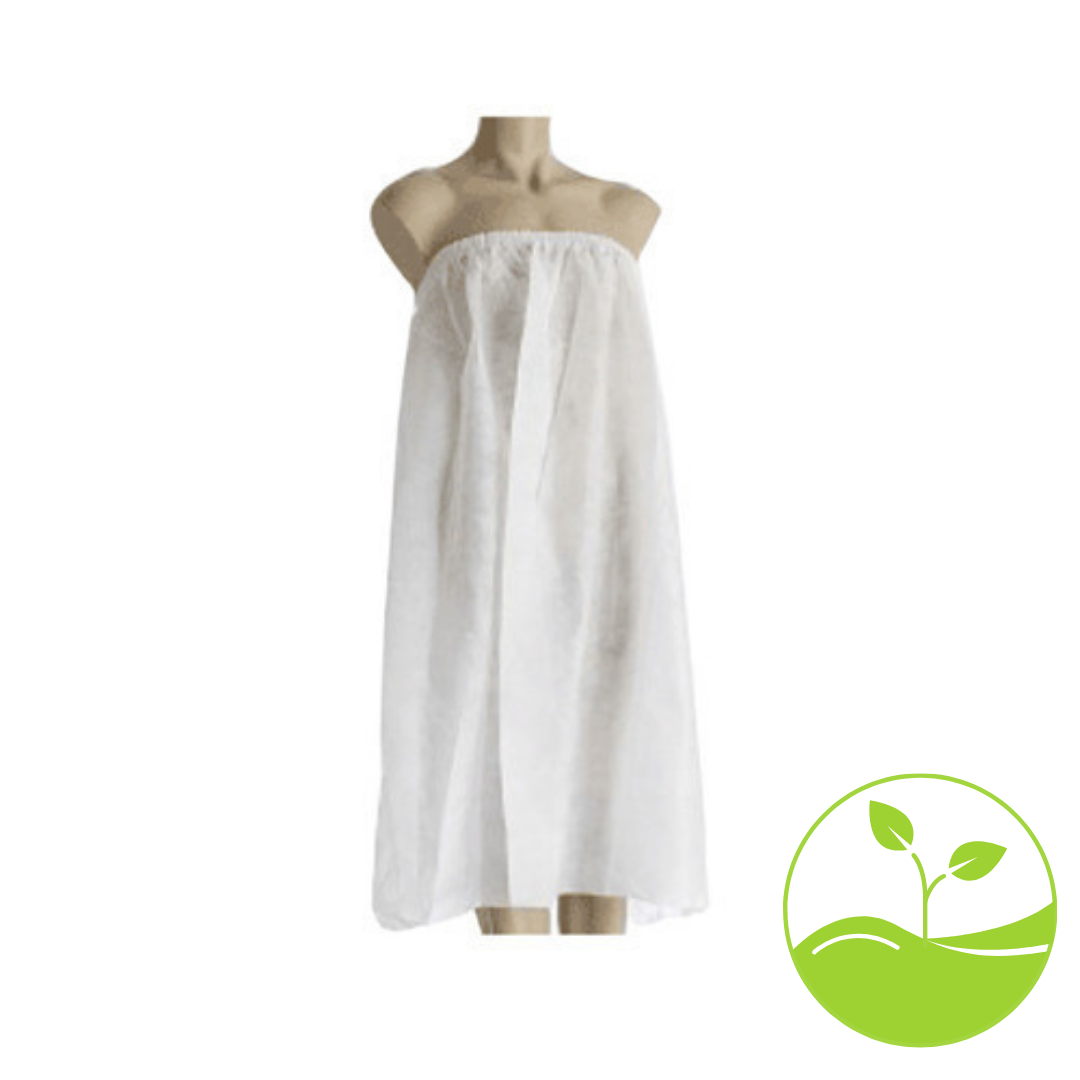 Oz E Eco Friendly White Spa Gown – ONE SIZE