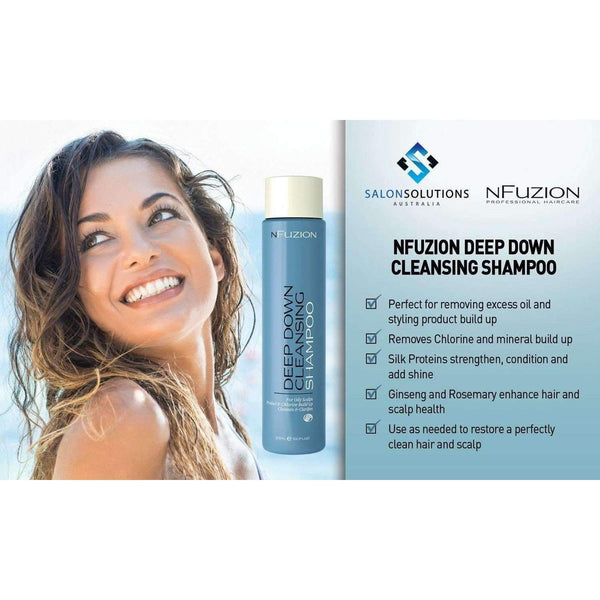 NFuzion Professional Deep Down Cleansing Shampoo 375ml,Salon Supplies To Your Door