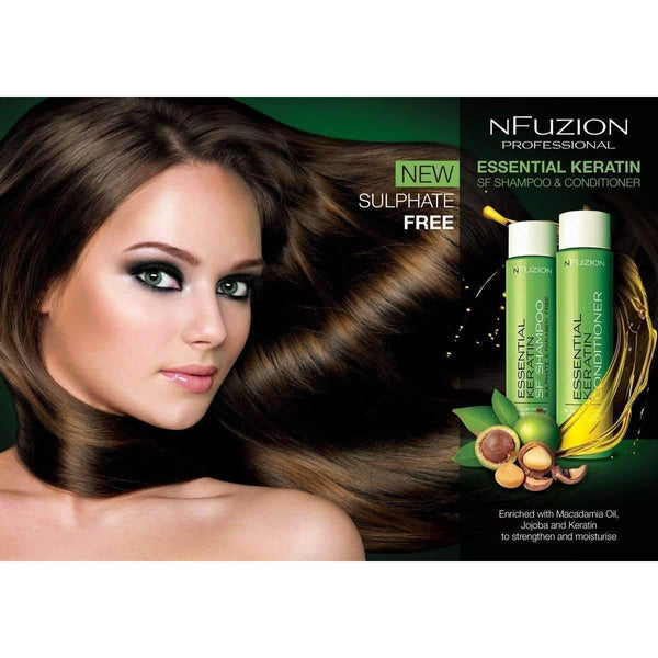 NFuzion Professional Essential Keratin Sulphate Free Shampoo 375ml,Salon Supplies To Your Door