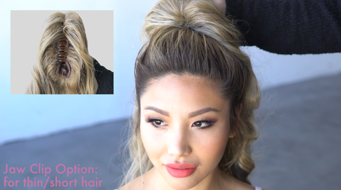 high curly ponytail extension